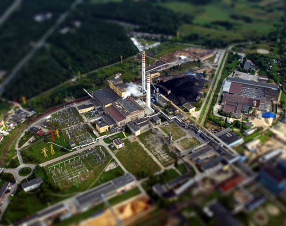 Stalowa Wola Power Station (Aerial Tilt-Shift)