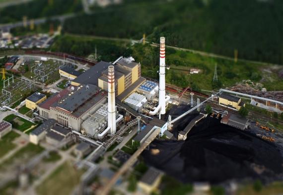 Stalowa Wola Power Station (Aerial Tilt-Shift)