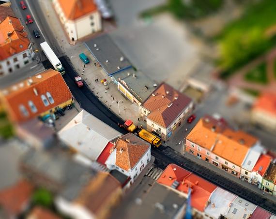 Old Town Lezajsk (aerialphoto, Tilt-Shift)