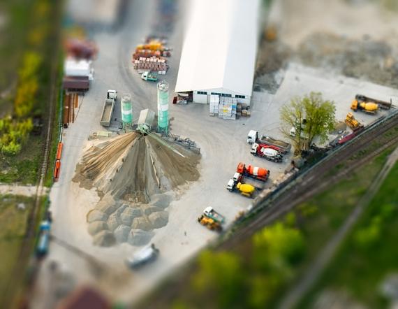 Industrial plant - Lezajsk (aerialphoto, Tilt-Shift)