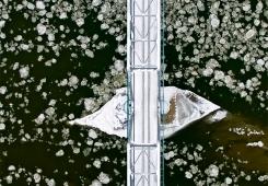 Railway bridge on San river (LHS)